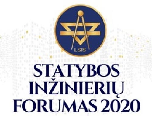Kvietimas dalyvauti Lietuvos statybos inžinierių forume 2020